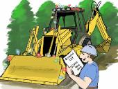 Grateful backhoe holiday greeting card
