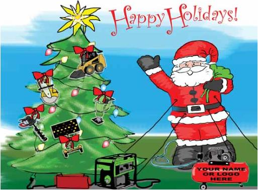 Rental Equipment Christmas Holiday Greeting Card