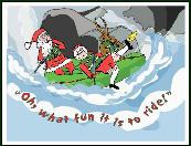 Oh what fun raft holiday greeting card