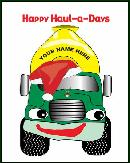 Propane truck hauladays holiday greeting card