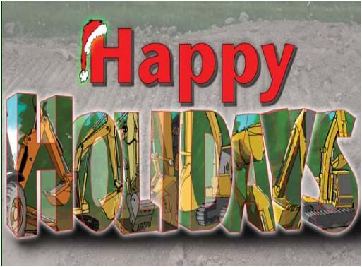 Holidaysfilled withexcavators Christmas Holiday Greeting card