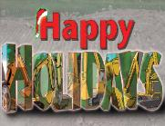 Holidays filled with Exc/Backhoes Holiday Christmas Greeting cards