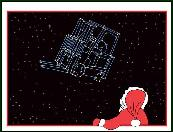 Forklift constellation holiday greeting card
