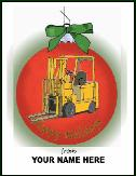 Lift truck ornamen holiday greeting card