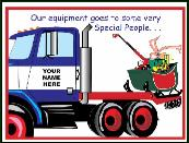 Forklift special people holiday greeting card