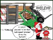 Forklift wheeley Holiday card