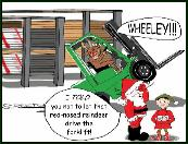 Forklift wheeley holiday greeting card