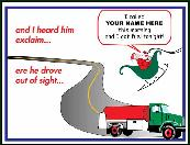 Fuel truck tonight holiday greeting card