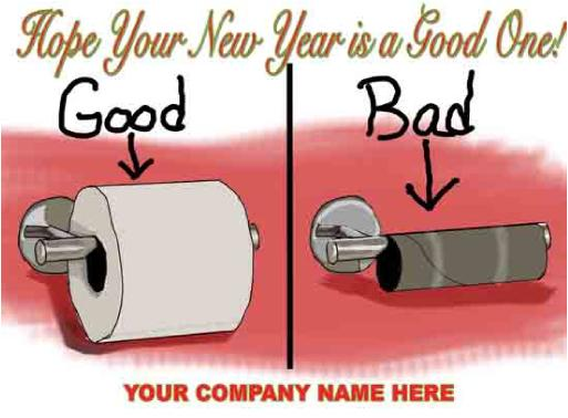 Good Bad TP Roll Christmas Card