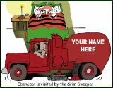Grim Sweeper truck holiday greeting card