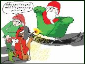 Welding heavy load holiday greeting card