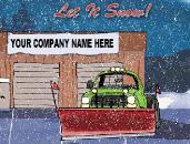 Let it snow for snowplows Christmas Holiday greeting Card