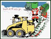 Look at Frosty Skidsteer holiday greeting card