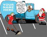 NaughtySweeper Christmas greeting card