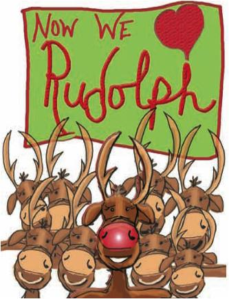 Other Reindeer Love Rudolph Christmas card