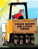 Asphalt Roller Paving Ho Ho Ho Christmas holiday greeting card