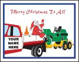 Pavers truck holiday greeting card