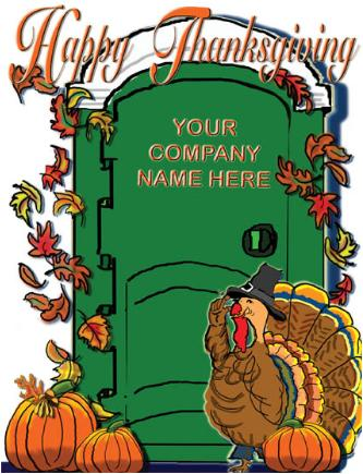 Thanksgiving Turkey Potty Holiday Greeting card