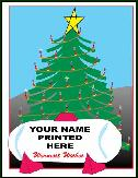 Propane tank and Christmas tree holiday greeting card