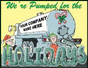 Pumped for Holidays Septic Truck holiday greeting card