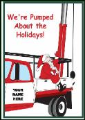 Pump puller truck holiday greeting card