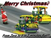 Rollers drag racing holiday greeting card