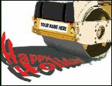 Pavement Roller Holidays holiday greeting card