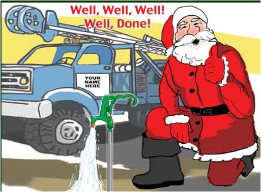 Santa hydrant well doneChristmas card