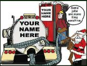 Septic truck time sensitive holiday greeting card
