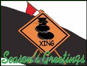 Traffic safety Frosty crossing sign holiday greeting card