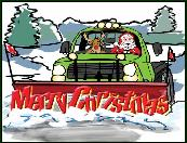 Snow Plow moving Merry Christmas Christmas Holiday greeting cards