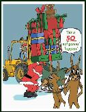 Fork lift so not holiday greeting card