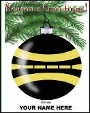 Pavement striper ornament holiday greeting card