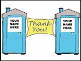 Portable Toilet Thank You Greeting Card