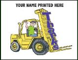 Forklift Thank You Greeting Card