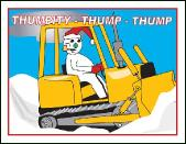 Dozer Thumpity thump holiday greeting card