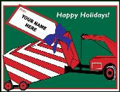 Towing gift holiday greeting card