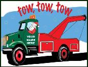 Tow tow tow holiday greeting card