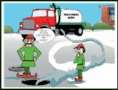 Turn down the pressure septic truck holiday greeting card
