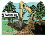 Unto us Excavator holiday greeting card