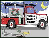 Welder truck holiday greeting card