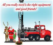 WELL DRILLING RIGHT EQUIPMENTChristmas Holiday Greeting Card
